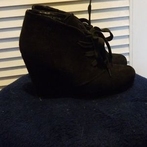 Cato, lace up, wedge, booties